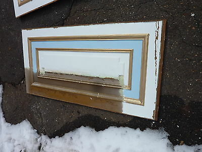 "circa 1902 painted pine WAINSCOT paneling raised panels 27/28"" x 27, 55, 61 & 72 5"