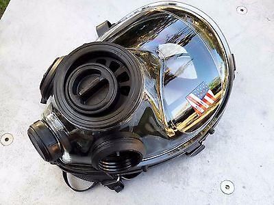 SGE 400/3 Tactical Gas Mask w/Mestel 40mm NATO NBC/CBRN Filter & Drop Leg Pouch 2
