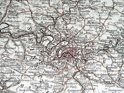 1896 Antique Original Map Of Northern France Luxembourg Lorraine Alsace Picardy 2