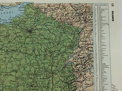 "FRANCE Map Original Vintage 1981 Print 8.7"" x 11"" (22.2cm x 27.9cm) Gifts"