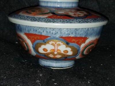 ANTIQUE JAPANESE PORCELAIN ARITA IMARI FUKI CHOSHUN MEIJI PERIOD rice bowl 4