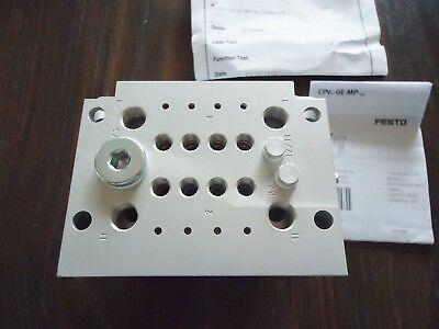 New Festo Solenoid Valve P/n Cpv10-Ge-Mp-4, 18253 B 407 Rev. 004, 24Vdc.