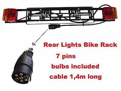 cable 140cm Carrier Car Trailer 13 pins New Model Lightboards Bike Rack