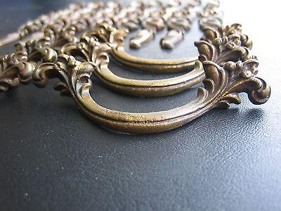 6 Antique Drawer Pulls-8 Drawer Plates Ornate Dresser Key plates Knobs- Vintage 5