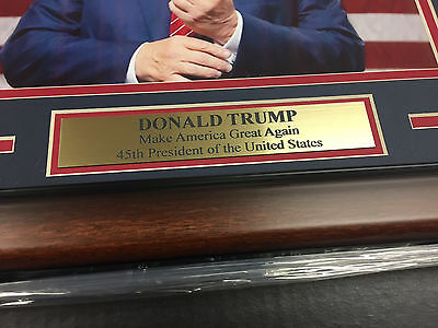 DONALD TRUMP 45TH US PRESIDENT MAKE AMERICA GREAT AGAIN FRAMED 8x10 PHOTO 2