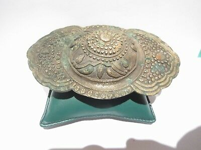 BEAUTIFUL ANTIQUE 1800's. SILVER BUCKLE WITH TOP DECORATION # 846 6