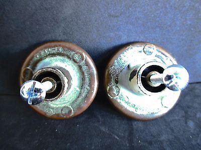 Vintage Keeler Brass Co. 2 knobs 3