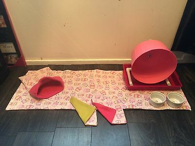 Double Trouble Deluxe hedgehog Starter Set,wheel,tray,bowls,bed,liner, Tunnels. 11