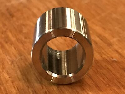 """(2 pc) Extsw 1/2"""" ID x 3/4"""" OD x 3/4"""" long 304 Stainless Steel Spacers 4"""