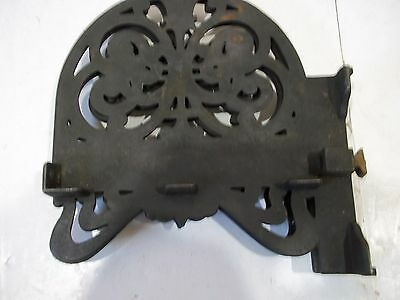 "Antique Cast Iron Shelf Brackets Left and Right for 6 1/2"" X 3/4"" shelf Vintage 7"