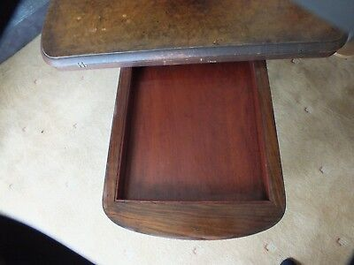 Antique Victorian Walnut Card/Games Table. 4