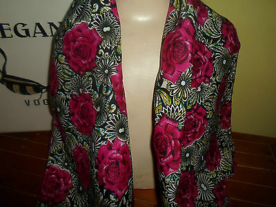 1 NEW Colourful Mixed Fibre Soft Ladies Scarf DEEP PINK ROSES Gift Idea #84 2