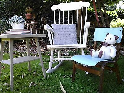 RARE COLLECTORS~ 1x Antique Vintage Wooden Child School Desk Chair (3 available) 12