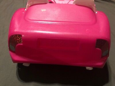Mattel BARBIE Pink Chevy Convertible Glam Drop Top 2 Seater Car 5