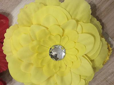 bandeau bébé fleur élastique tête accessoire cheveux fille enfant mariage fête 2