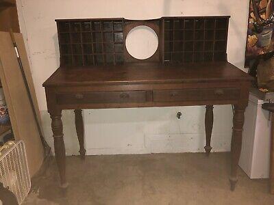 Antique Mail Sorter Post Office Desk 5