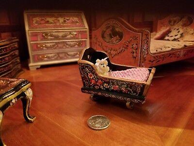 1:12 scale Natasha Beshenkovsky's Mini Decoupage Decor - Sheraton Collection Bed 11