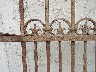 Antique Victorian Iron Gate Window Garden Fence Architectural Salvage Door #710 6