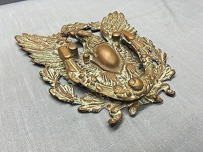 Antique BRONZE / BRASS EAGLE DOOR KNOCKER ~ LARGE~ Beautiful Patina ! 2