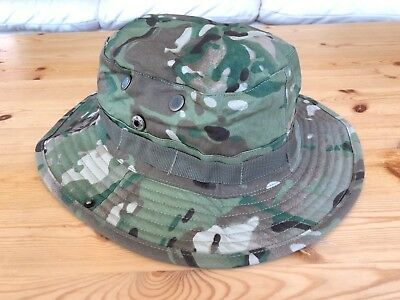 Multicam Boonie Hat US Army Woodland BDU Jungle Sun Cap Military 1 Size Fits All 6
