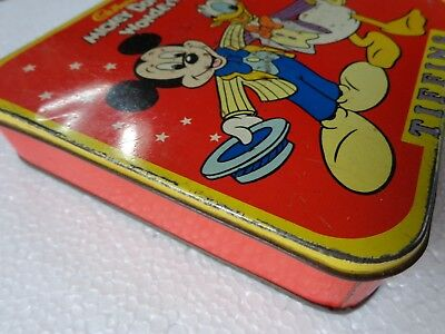 VINTAGE TIN BOX Cadburys Mickey Donald Wonders Chocolate Container India