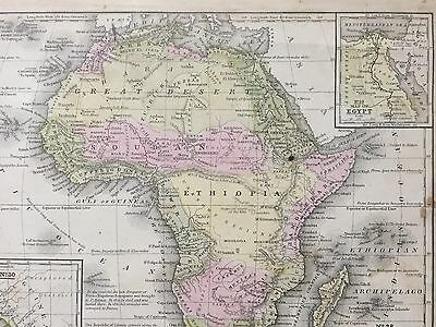 "Hand-Colored Map of Africa (1855)-""Mitchell's School Atlas"" 3"