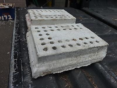 "c1890-1900 colonial EAVE molding bracket salvaged BLOCKS w detail ~ 9"" x 7"" x 2"" 4"