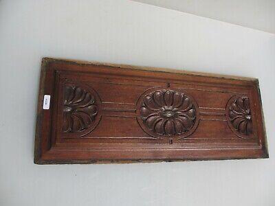 "Antique Wooden Panel Plaque Sign Vintage Old Floral Flowers Victorian 19""x7"" 2"