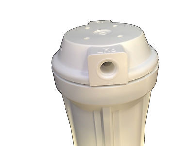 "10"" White Housing For Reverse Osmosis Water Filters With 1/4"" Female Port"