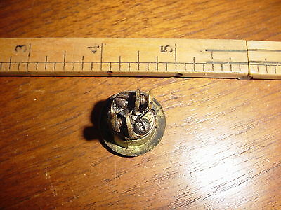 Antique Vintage Brass Railroad Pullman Dining Car Push Button