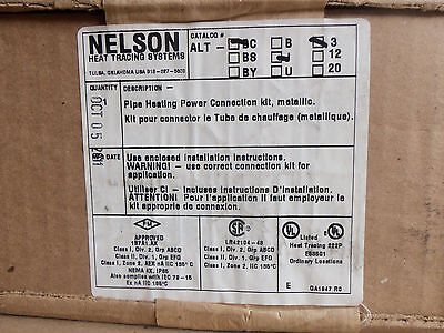 New Worn Box Nelson Heat Tracing Systems ALT-BC-J-3 Pipe Heating connector kit