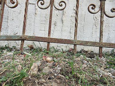 Antique Victorian Iron Gate Window Garden Fence Architectural Salvage #929 5