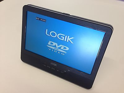 "LOGIK 9"" Tablet In Car Portable DVD Player 3 Hour Rechargeable Battery AV in Out 2"