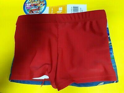 Super Wings novit/à Prodotto Originale 1572EQ Costume Costumino Boxer Parigamba Mare Piscina Rosso - 5 Anni - 110 cm Bambino