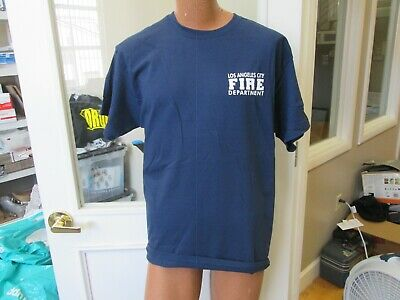XL LOS ANGELES LA CITY FIRE DEPARTMENT LAFD T SHIRT X LARGE GILDAN HEAVY COTTON