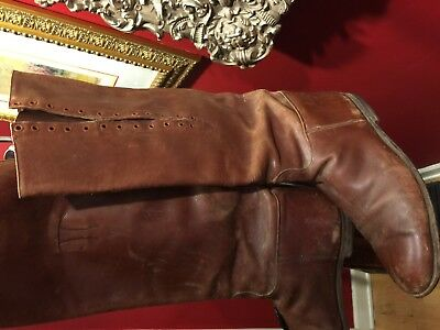 Wwi Wwii Us Cavalry Officer Shaft Lace Riding Boots Excellent Condition Size 10 2