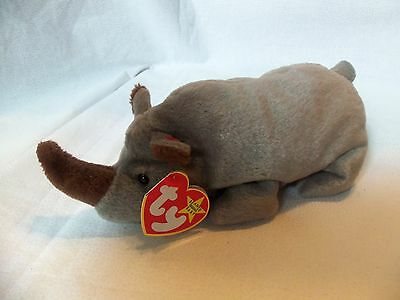 TY Beanie Babies Rhino ** SPIKE ** 5th Generation New w/ Tag