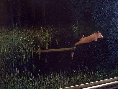 Sowa Kohler/'s Pig FRAMED Michael Sowa poster diving pig when pigs fly
