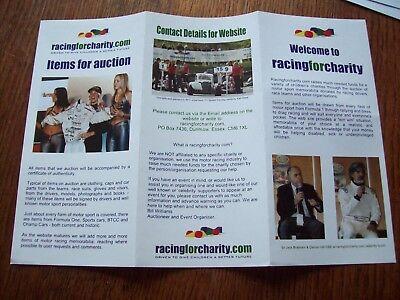 A Racingforcharity Envelope Signed By Gil De Ferran 2