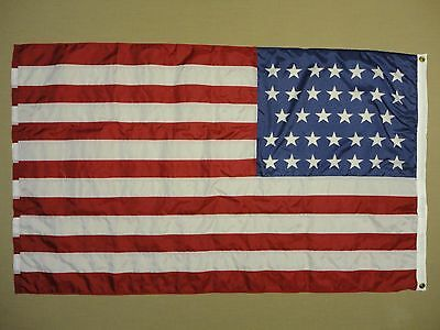 Mine Creek 1864 KS Historical Outdoor Dyed Nylon Flag Grommet 3/'X5/' 34 Star U.S