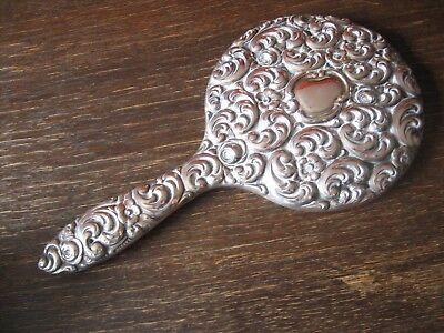 prächtiger antiker Spiegel Handspiegel silber pl für Frisiertisch und Boudoir 2