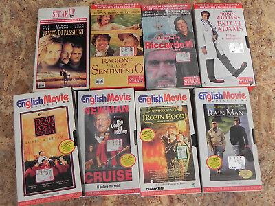 Lotto 9 Vhs English Movie Collection e Speak Up Film in lingua inglese originale 4