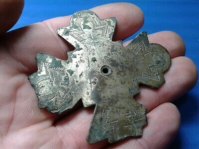 Ancient Byzantine Bronze Cross 5