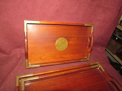 Set Chinese Old or Antique Hardwood Nesting Trays 20th century 5