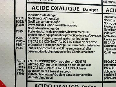 Acide Oxalique - Sel D'oseille 500 Grammes 3