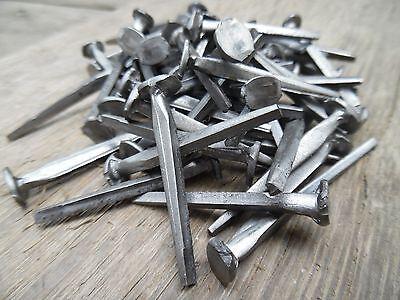 "(5) 1.5"" - CUT SLATING NAILS  - Vintage Antique - 4d"