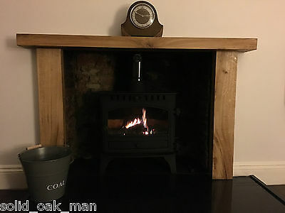 Fire Surround, solid rustic oak beam, MADE TO MEASURE oak fireplace surround 3