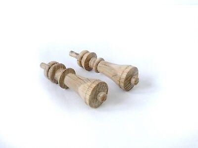 Wood Finials For Ansonia Triumph, F Kroeber Occidental Clock, 6 pieces 7