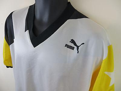 33acb2f83 ... Puma Vtg 90s Retro Football Shirt Yellow Soccer Jersey Skjorte Camisa  Trikot XL 2