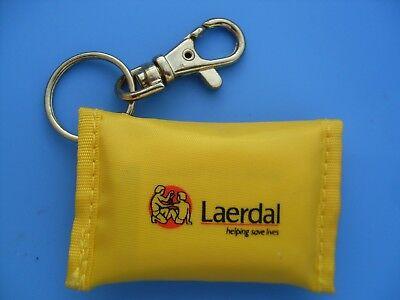 Laerdal CPR face shield KeyRing First Aid Ambulance Police Paramedic Resusci ALS 2